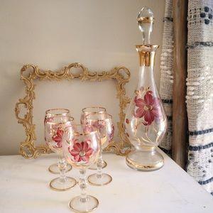 Vintage Mid-century Hungarian decanter set